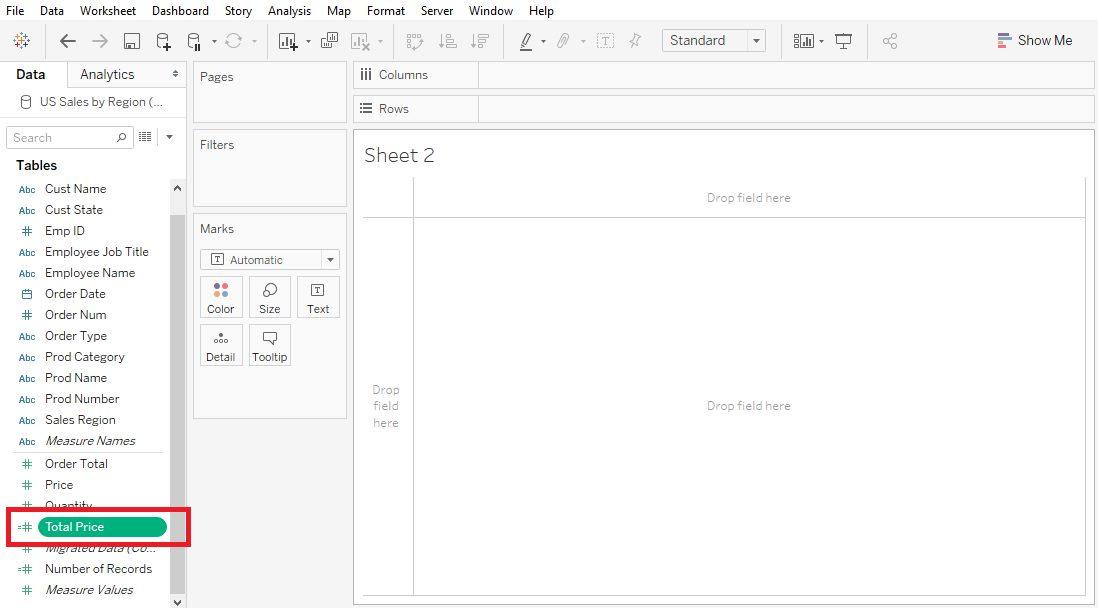 Tableau create calculated field Step 4